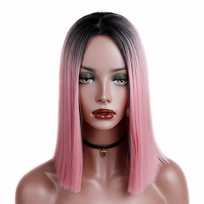 Perruque Carré Long Lisse Ombré Rose Nicki Minaj style cosplay wig