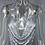Robe en sequins argentée kendall jenner dos nu