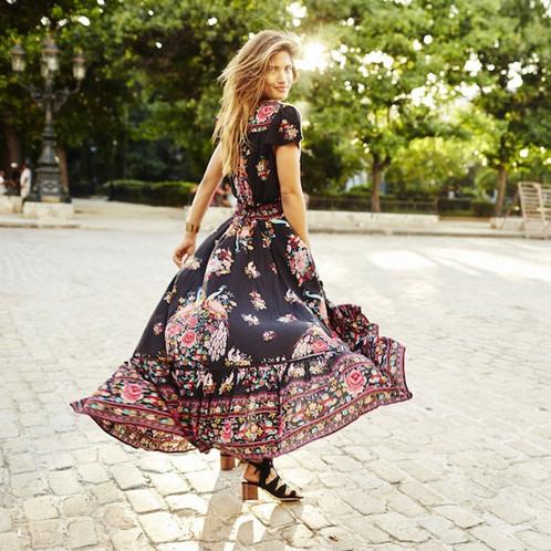 Fleurie Longue Flamenco X Robe Bianca 54R3cAjLqS