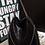 Thumbnail: Grand Sac en Cuir Chaîne - Noir 35x40cm