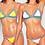 Bikini 2PCS Multicolore neoprene en Crochet Gypsy Louiza 2018 coachella maillot de bain