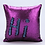Thumbnail: Housse de coussin en Sequins 40x40cm Violet/Bleu