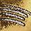Thumbnail: Housse de coussin en Sequins 40x40cm Doré/argenté