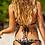 Set Bikini 2pcs Crochet Coquillages Noir Shells Black Swimwear MA361