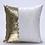 Thumbnail: Housse de coussin en Sequins 40x40cm Blanc/doré
