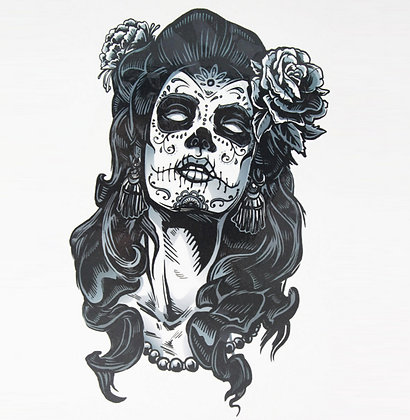 Tatouage Gangster Rose Catrina 15*21