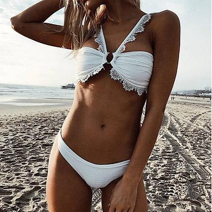 Bikini Blanc DENTELLE Circle Delicate x Poison
