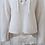 Pullover Encolure en V Lacée Blanc