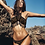 Maillot de bain Bikini 2pcs Franges Noir & Doré Gypset
