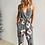 Combinaison Imprimée Fleurie Grise Printed Jumpsuit Grey Floral Theme