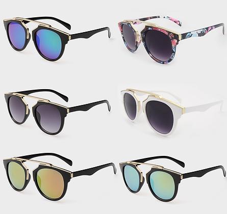 Lunettes Way Goldy Mirror Fashion Sunglasses