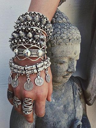Bracelet Argenté Bohème Gypsy Coins