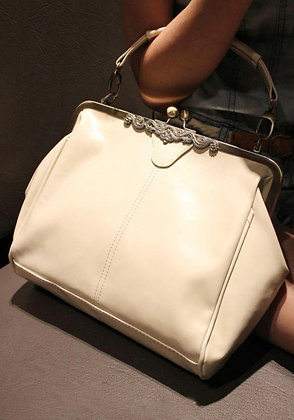 Sac à main Cuir Blanc Vintage WOMEN BAG retro real leather vintage bag