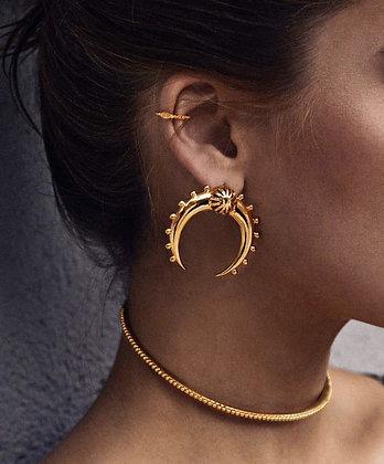 Boucles d'oreilles Dorées Croissant de Lune