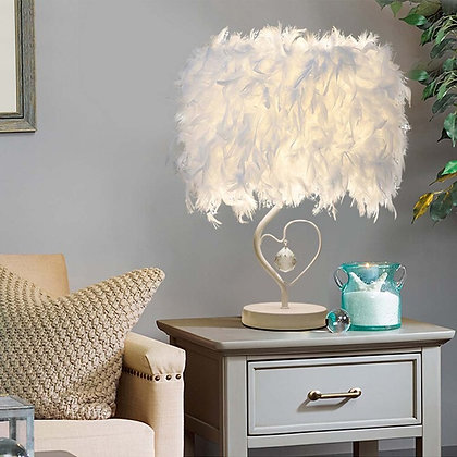 Lampe de Chevet Plumes Ambiance Romantique Feather Table Lamp