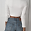 Crop Pull Pullover Court Encolure à Lacer  Lace-up Ava Shirt