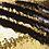 Housse de coussin en Sequins Réversible 40x40cm 10 - Noir/doré
