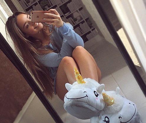 Pantoufles Licorne Chaussons Idée Cadeaux Hiver Unicorn