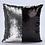 Thumbnail: Housse de coussin en Sequins 40x40cm Noir/argenté