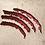 Thumbnail: Housse de coussin en Sequins 40x40cm Rouge/doré