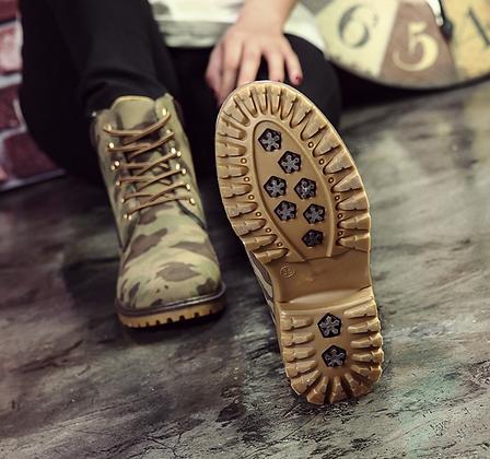 Bottines Montagne Militaires Aspect Daim Suede Montain Camo Boots CH24