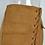 Jupe Camel Lacée Taille Haute en Daim