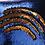 Thumbnail: Housse de coussin en Sequins 40x40cm Bleu/doré