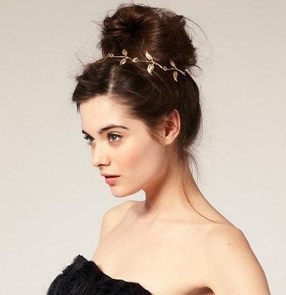Headband Bandeau Feuilles d'Olivier Doré Blair Gossip Girl Spirit