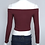 Pull Court Épaules Nues Bordeaux burgundy winde red crop top pullover jumper sexy 2018 outfit fashion blogger