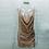 Robe en sequins décolleté drapé champagne rose doré kendall jenner style