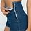Short Denim Taille Haute American apparel Bleu Foncé