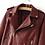 Veste Perfecto Cuir PU Rouge Foncé Burgundy Leather Jacket