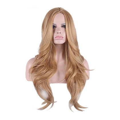 Perruque Longue Blond Naturel Wavy Wig Vicky