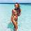 Bikini Fleurs 3D Gris Grey Floral Relief Swimwear 2018 beach gypsy ethnic coachella hippie