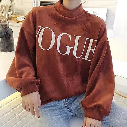 Sweat Oversize Vogue Chaud Polaire en Velours Full Velvet Sweater