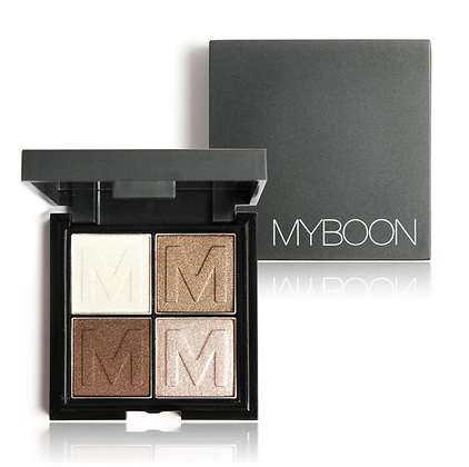 4 Ombres à paupières Brown Glitter MyBoon