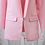 Blazer Rose Pâle Coupe Loose Blush