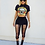 Crop T-shirt imprimé Cut-Out Guns N Roses