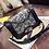 Pochette Noire Cuir Designer Luxx Diamonds 21x13cm