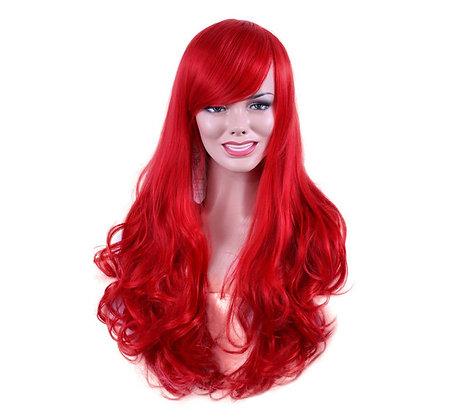 Perruque Rouge Volumineuse Ondulée La Petite Sirène Red wig mermaid cheap wigs haxx.fr