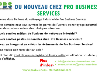 DU NOUVEAU CHEZ PRO BUSINESS SERVICES
