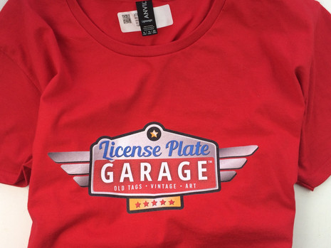 Women's License Plate Garage T-Shirt