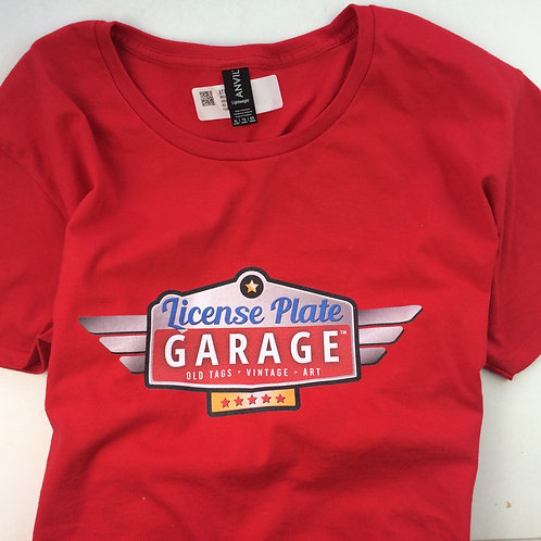 License Plate Garage Emblem T-Shirt