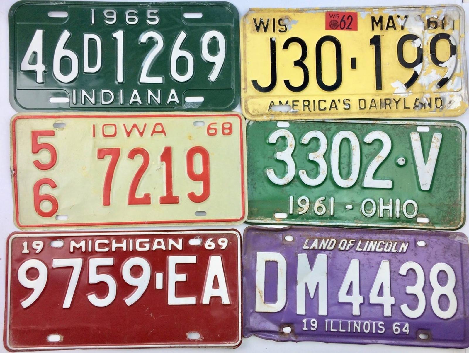 1960s   License Plate Garage   Old Tags   Vintage   Art
