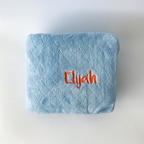 Personalised Large Microfiber Towel - Ocean Blue