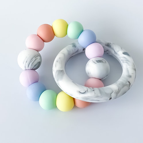 Marble Ring Round Silicone Teether