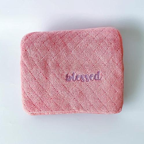 Personalised Large Microfiber Towel - Rose Pink