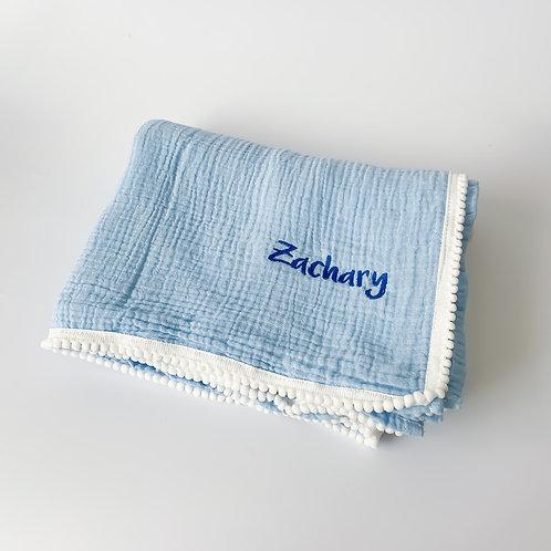 Personalised Pom Blanket