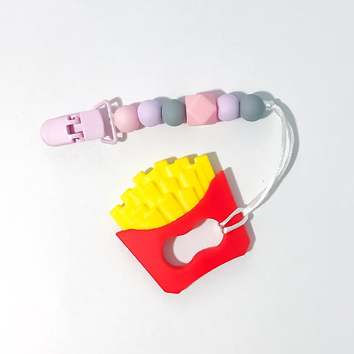 French Fries Silicone Teether Clip