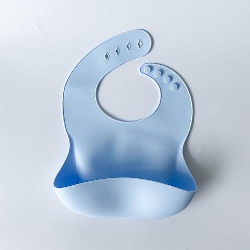 Silicone Bib - Baby Blue